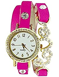 VK SALES Watch With Beautiful Dial With Diamond With Attractive Love Dori | Looks Like Bracelet | Casual Wear...