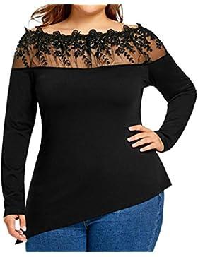 K-youth® Blusas Para Mujer, Camisa de Manga Larga Para Mujer Casual Camiseta Mujer Ropa de Mujer Talla Grande...