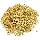 dealglad Lot de 1000exquis Petit 19mm en métal doré Vêtements Accessoires de fermeture de sécurité broches