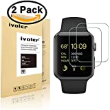 [2-Pack] Apple Watch 42mm Protection écran , iVoler® [2-Pack] Film Protection d'écran en Verre ...