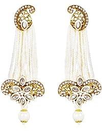 Shining Diva Fashion Jewellery 18k Gold Plated Stylish Fancy Party Wear Pearl Traditional Earrings For Women &...