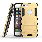 iPhone 7 case, BRG Dual Layer Protective Hybird Armor Case Shockproof Slim Fit Protective Cover with Kickstand for iPhone 7 - 4.7 inch, Gold