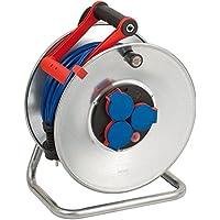Brennenstuhl 1199830 Dévidoir Garant S N05V3V3-F3G1,5 plein, avec chssis très solide (+ protection IP 44), tuyau de 50 m