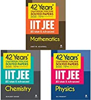 42 Years Chapterwise Topicwise Solved Papers (2020-1979) IIT JEE Main & Advanced Physics,Chemistry and Mat