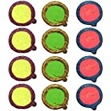 D'Amour Handcrafted Colourfull Decorative Diya (Set Of 12,Round)
