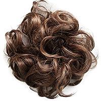PRETTYSHOP Postizo Coletero Peinado alto, VOLUMINOSO, rizado, Moño descuidado mezcla marrón # 4
