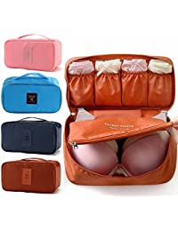 J Go Travel Women Organizer Bra Underwear Pouch Cosmetic Bag Portable Luggage Storage Cas(, Multi-Color)