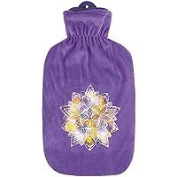 1x Sänger 2 Liter Gummi-Wärmflasche inkl. Softvelourbezug, Wärmeflasche mit Bezug, Mandala, lila preisvergleich bei billige-tabletten.eu