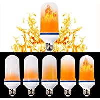 Lampadine a fiamma LED,LED Flame Light Bulbs,Snewill E27 Standard Simulated Nature Fire 105pcs 2835 LED Beads for Decoration Lighting on Christmas New Year Halloween Holiday Party