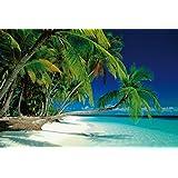 Póster Playa de ensueño Las Maldivas - Paraíso Tropical (91,5cm x 61cm) + 1 Póster con motivo de paraiso playero