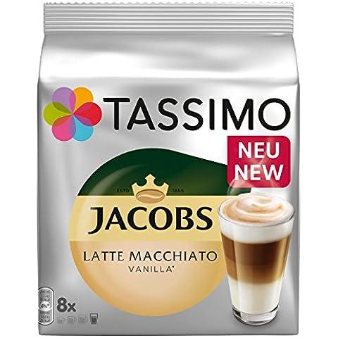 Tassimo Latte Macchiato Vanilla, vaniglia latte caffè, capsule per caffè, caffè torrefatto macinato, 80dischi T/40porzioni