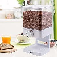 Ryori Kitchen - Dispensador de cereales cuadrado de plástico transparente y seco, mantiene los alimentos frescos y geniales para control de porciones suelto blanco