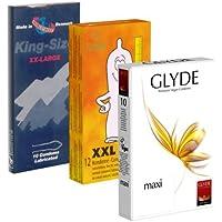 Der Kondomotheke® XXL Mix B3a - 3 x extra große Kondome (Amor, Glyde, World'sBest) - Probierset! preisvergleich bei billige-tabletten.eu