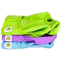 Pet Magasin Waschbare Hundewindeln (3-er Packung) - robuste & wiederverwendbare Wickelwindeln für Hunde mit hoher Saugfähigkeit für männliche und weibliche Haustiere, Hunde, Welpen (Solide, M)