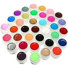 DANCINGNAIL 36 Colores 36 Ollas Solid Mix Pura Pulido UV Gel Uñas Arte Manicura Constructor Herramienta Decoración Set Kit