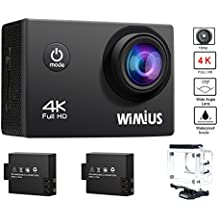 Action Cam 4K, Wimius Sport Action Camera WIFI Full HD