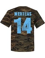 Napoli Mertens camiseta de camuflaje, Unisex, Camouflage Black
