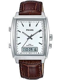 Pulsar Herren-Armbanduhr Analog - Digital Quarz Leder PBK033X1