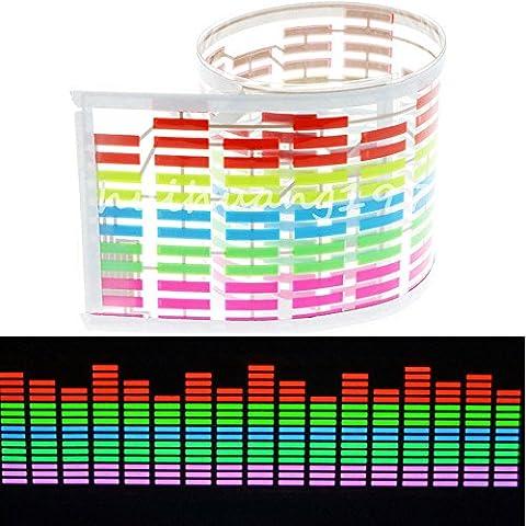 Eaglerich EL luce Colourful Flash autoadesivo ritmo di musica Lampada LED attivato suono Equalizzatore