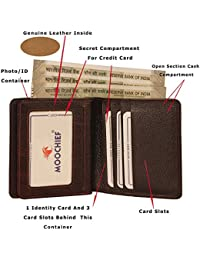 MOOCHIEF Brown Men Genuine Leather Wallet (8 Card Slots)