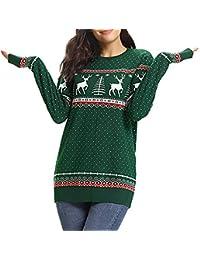 Weihnachten Ging Pullover Tops Kleiden Pullover Bluse T-Shirt Sweatshirt, Herbst Winter Groß Größe Frauen Hoodies Lang Ärmel O-Neck Baum Schneemuster Blumen Drucken Party Elch Outwear Weste Mantel