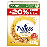 ‏‪Nestle Fitness Nestle Honey & Almond Breakfast Cereal 425g – Promo Pack‬‏
