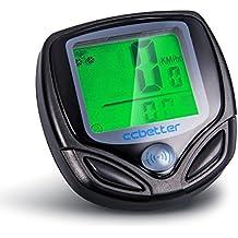 Computadora de ciclo, ccbetter Velocímetro de bicicleta Computadora de bicicleta inalámbrica Impermeable LCD Sensor de movimiento de retroiluminación de despertador automático para rastrear Velocidad