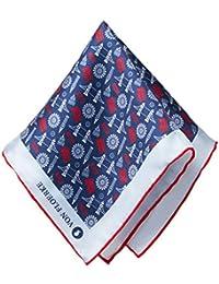VON FLOERKE Handrollierte Einstecktuch 100% Seide – 30x30cm – hochwertige Kavalierstücher/Pochette für Herren