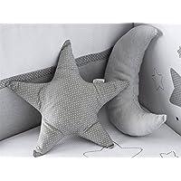 Pirulos Luna - Set de 3 cojines, color gris