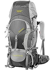 bolsas mochila al aire libre del alpinismo 60L Mochila de viaje de senderismo de agua bolsa repelente de hombres y mujeres paquetes de viajes ( Color : Negro , Tamaño : 50+10L )