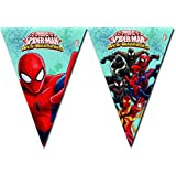 1 Banderolas * Ultimate Spiderman Web Warriors * para fiestas de cumpleaños y temática//Set Plastic Table Cover infantiles temática Web Warrior Super Held Spider Man
