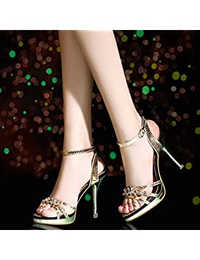 SDKIR-A tacco alto sandali, femmina estate sexy punta aperta sandali, fibbie con un desktop impermeabile fine...