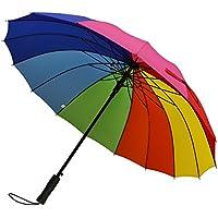 Paraguas automático grande de 129 cm de G4Free, gran apertura, resistente al viento y