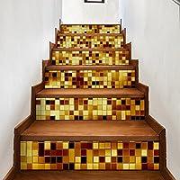 GLJY DIY3D Etiqueta De La Escalera, Decoración del Hogar A Prueba De Agua Pegatinas De Pared Europeas Y Americanas,6Pcs,100 * 18Cm