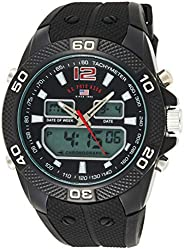 U.S. Polo Assn. US9593 Men's Quartz Watch, Analog Display and Stainless Steel S
