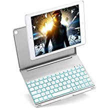 iEGrow Funda de Teclado iPad Air, Funda iPad Bluetooth Teclado para 2017 iPad, iPad