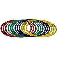 Boje Sport - Lote de aros flexibles (12 unidades, 48 cm de diámetro, incluye bolsa), 4 colores
