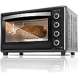 Cecotec Bake&Toast 750 Horno Eléctrico Multifunción de sobremesa, 2000 W, 12 Modos de cocinar, Temperatura hasta 230ºC y Tiempo hasta 60 minutos, Incluye Rustidor, 46 litros, Negro