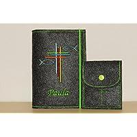 Gotteslobhülle und Rosenkranztasche mit individueller Bestickung