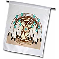 Designer One of a kind Native American Art 30,5 x 45,7 cm, decorativo double Sided Garden Flag