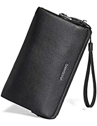 08b1842adcb135 Portemonnaie Männer RFID Schutz Mit Schloß Herrentasche Leder 24×15×4cm  Geldbörse…