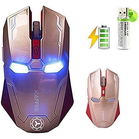 urchoiceltd 2016Naffee G52.4GHz Wireless Mouse ottico ergonomico 6d 2400dpi silenzioso 6pulsanti usb per computer portatile Notebook Desktop da Ufficio 3Colori
