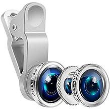 Fisheye Obbiettivi cellulare Lenti Set- Yarrashop 3 in 1 clip on Lens(180 gradi obiettivo di Fisheye, 0.65X Obiettivo grandangolare, 10X Macro Lens) per iPhone Samsung Galaxy HTC LG Sony IOS e Android Smartphone ecc