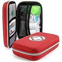 Rehomy Home Treats Kit de primeros auxilios para exteriores, kit de primeros auxilios de supervivencia médica bolsa de tratamiento caso de emergencia, 1058659/120273UKMPWI, rojo