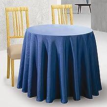 Falda de Mesa Camilla Redonda Modelo DOVER, Color MARFIL C/1, Medida 60cm diámetro