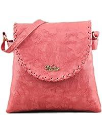 Serra Paris Women's Sling Bag (Available In Dark Tan, Peach, Light Brown, Rose Pink, Sand, Beige & Yellow) (Peach)