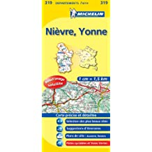 Carte DEPARTEMENTS Nievre, Yonne