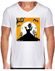 Camiseta V Cuello para Hombre - Noche De Halloween by GiordanoAita