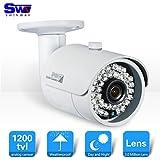 SW Caméra extérieure de vidéosurveillance 1200TVL avec objectif grand angle 3,6mm 36LED vision nocturne infrarouge intégrée