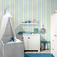Streifentapete Für Kinderzimmer   No.YK49 Streifen Blau Grün Streifentapete    Muster Vliestapete Breit